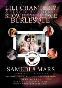 Affiche l'Amuse Théâtre - 08-03-2014